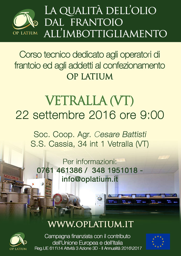 A Vetralla (VT) un corso di formazione dedicato ai tecnici ed agli operatori OP LATIUM