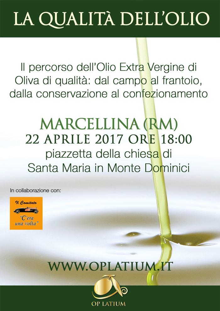 La qualità dell'olio - Marcellina (RM) 22 aprile 2017