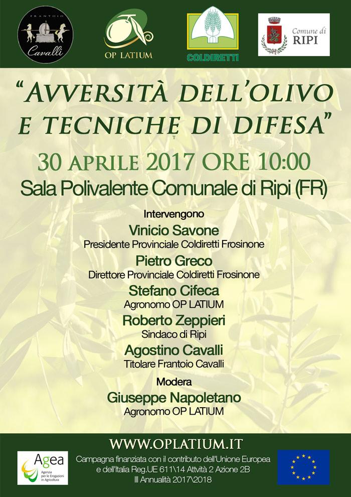 Convegno: Avversità dell'olivo e tecniche di difesa - Ripi (FR) 30 aprile 2017