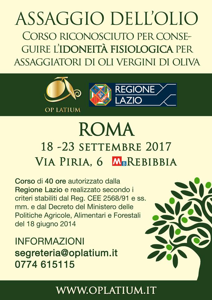 Corso di idoneità fisiologica per assaggiatori di oli vergini di oliva riconosciuto dalla Regione Lazio