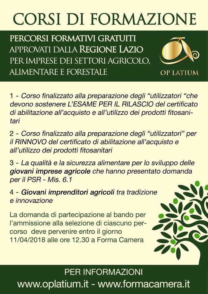 Aperte le iscrizioni ai percorsi formativi gratuiti approvati dalla Regione Lazio per aziende agricole, alimentari, forestali