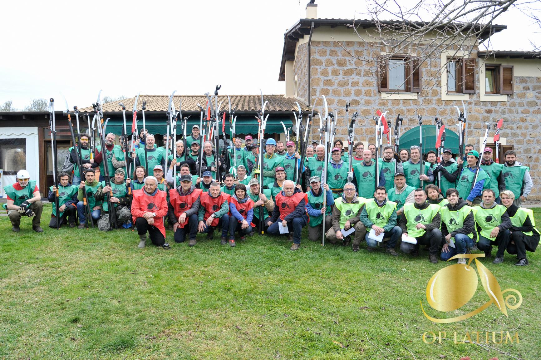 Classifica finale dell'XI Campionato regionale Lazio di potatura a vaso policonico svolto a Vetralla (VT) il 17 marzo 2018