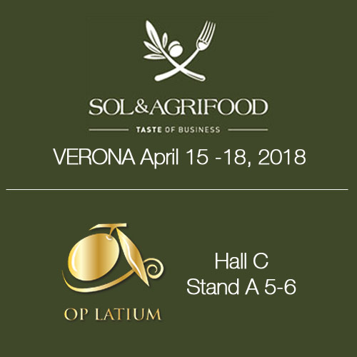 OP LATIUM will be in Verona from april 15 to 18 attending SOL & Agrifood 2018