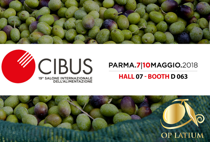 OP LATIUM at Cibus International Food Exhibition. Parma May 7 – 10, 2018