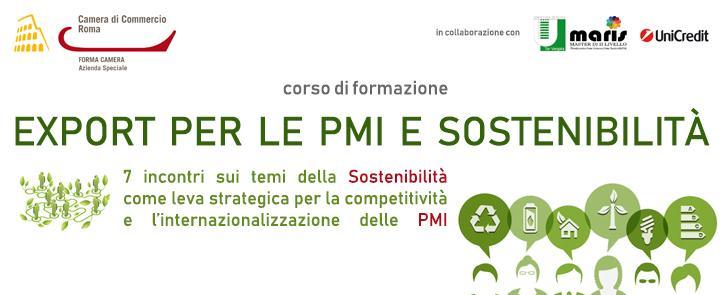 Corso Export per le PMI e Sostenibilità: 8-30 novembre 2018