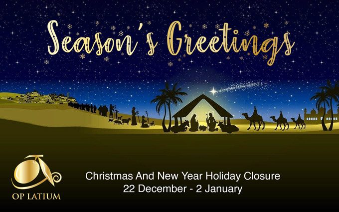 Christmas and New Year Holiday closure notice