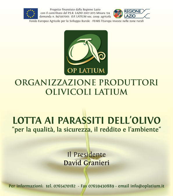 Incontri di presentazione del progetto  LOTTA AI PARASSITI DELL'OLIVO