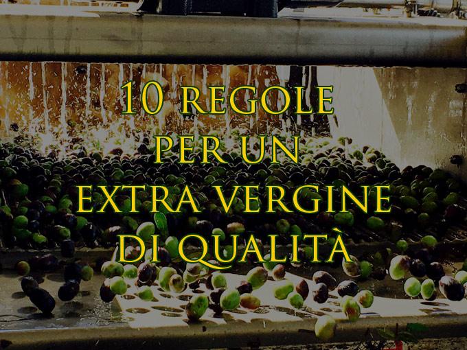 10 regole per produrre un olio extra vergine di qualità