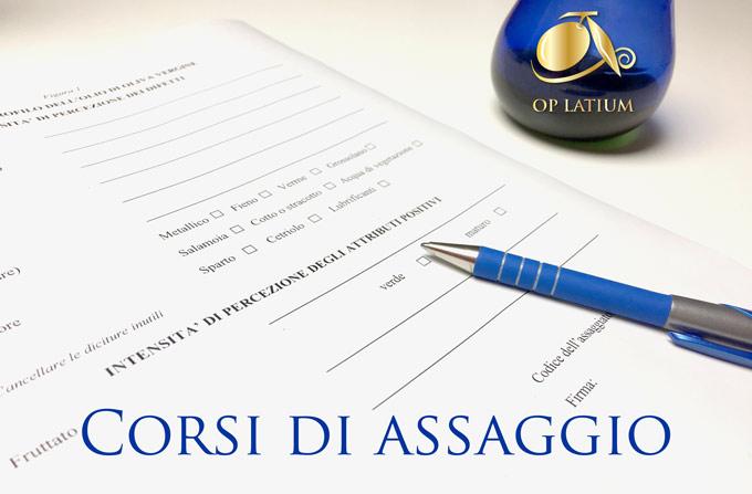 Corsi di assaggio dell'olio a Roma e nel Lazio