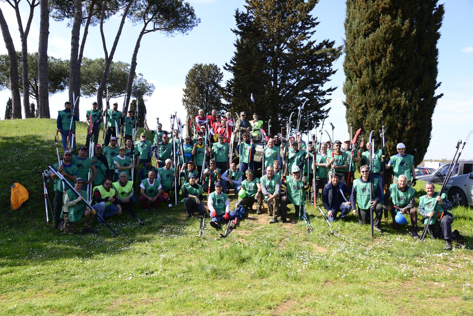 Classifica finale del XII campionato regionale Lazio di potatura dell'olivo a vaso policonico - Aprilia, 23 marzo 2019