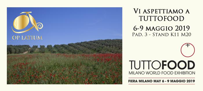 OP LATIUM partecipa a Tuttofood 2019 a Milano