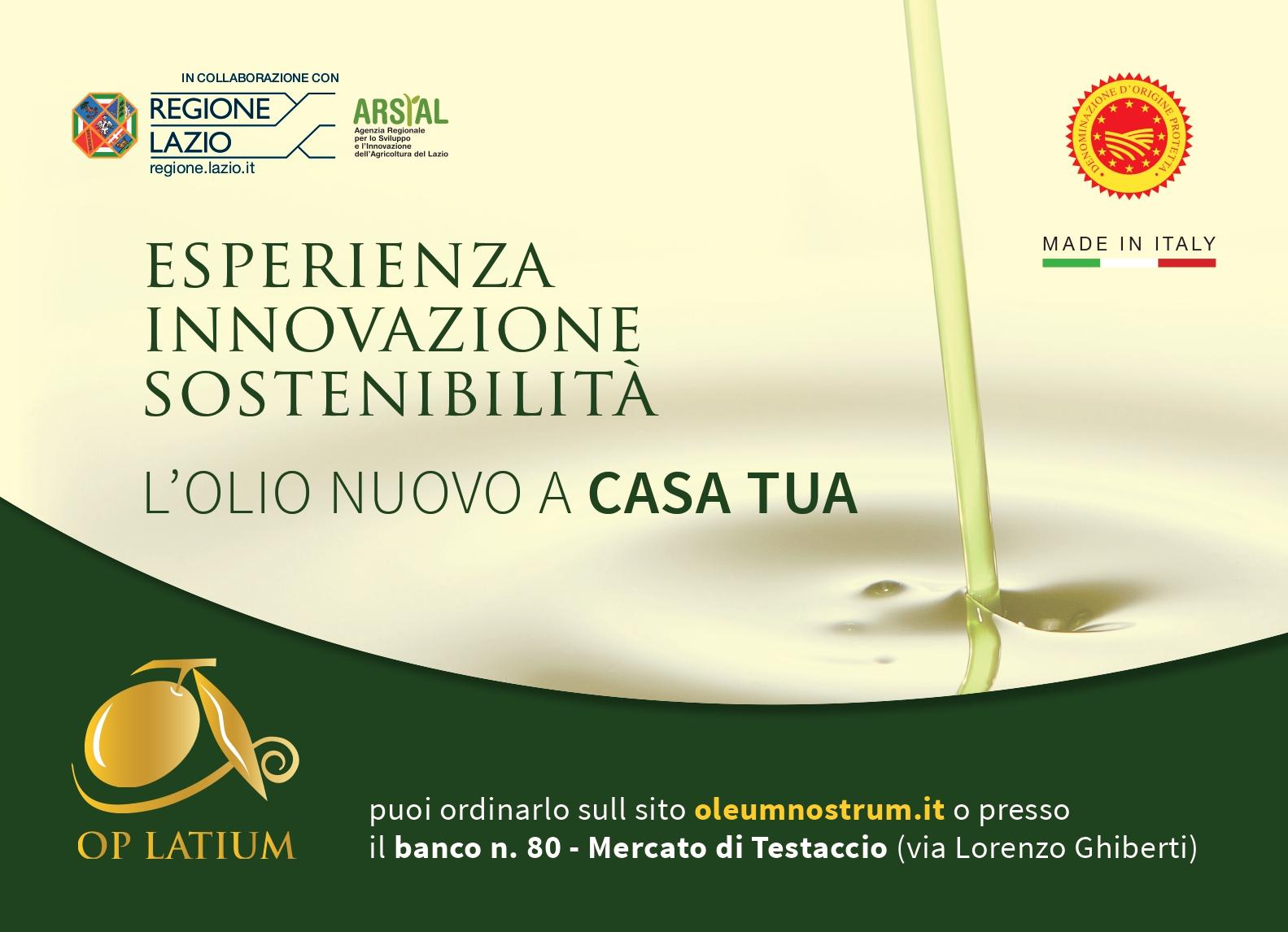 Olio DOP-BIO-EVO del Lazio a casa tua